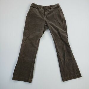 Gap Womens size 8A Jeans Bootcut Cotton Brown Corduroy Pants Casual Ladies