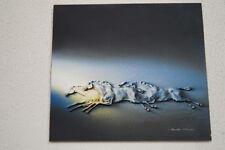 Relief-schilderij paarden chevaux van/de Molinari PARIS MOMARTRE zeldzaam/rare