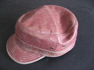 Leather Hat RVCA Cap NEW Red size 6 - 6 1/2