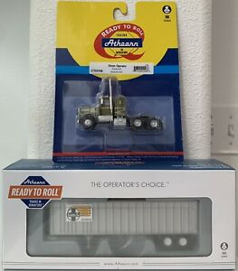 Athearn KW Kenworth Truck Tractor & Santa Fe 40' Exterior Post Z-Van Trailer NEW