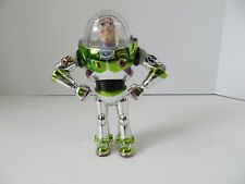 "Disney Toy Story's Buzz Lightyear Chrome Plastic Action Figure 7"" Tall #6964"