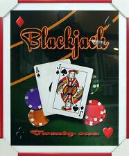Custom Framed Art - Blackjack - Home Art - Game Room