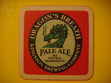 Beer Brewery Coaster ~ Kingston Brewing Dragons Breath Natural Pale Ale ~ CANADA