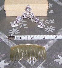 VINTAGE SIGNED BOGOFF RHINESTONE TIARA FOR PAGEANTS OR WEDDING