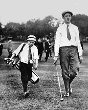 1913 US Amateur Golfer FRANCIS OUIMET w/ Eddie Lowery Glossy 8x10 Photo Print