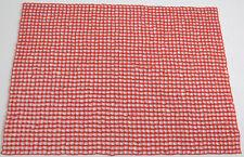 HANDMADE Glass Beaded Placemat / Purpose Mat- FIERY RED