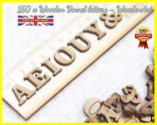 Alphabet Vowels x 150 Wooden Letter MDF Scrapbooking Wood Letter Embellishment