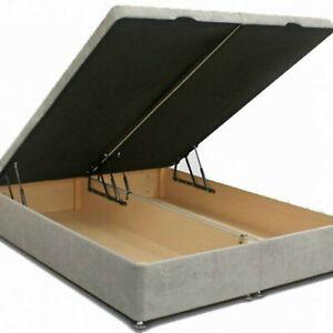 Ottoman Storage Bed Divan Bed Soft Plush Velvet Drawers Gas Lift Up Frame Base
