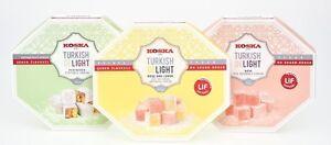 160g SALE NO ADDED SUGAR Pistachio Rose Lemon Turkish Delight Diet Mum Dad Nanny