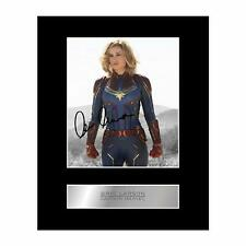 Brie Larson Signed Mounted Photo Display Captain Marvel #2