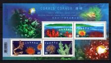 Canada 2002 Jointed Hong Kong Issued Coral Stamp S/S