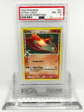 2006 Pokemon Ex Holon Phantoms Latias 21/110 Holo Foil Rare PSA 8 NM- MT