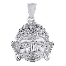 Sterling Silver Buddha Head Pendant