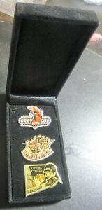 2004 92th CFL Grey Cup Football Ottawa ON 3 Pin Set Festival Renegades new w/Box