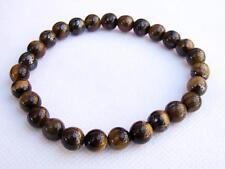 Natural Gemstone Men's ELASTIC bracelet all 8mm Tiger Eye beads 8inch