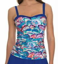 PROFILE BY GOTTEX BANDEAU MADAME BUTTERFLY TANKINI SIZE 38D  $98 NWT D CUP
