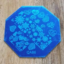 CHRISTMAS SNOWFLAKE NAIL ART STAMPING PLATE IMAGES STAMPER MANICURE POLISH TE...