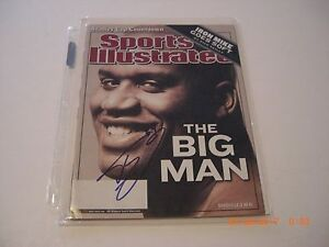 SHAQUILLE ONEAL LOSANGELES LAKERS,MAGIC,HOF W/COA SIGNED SPORTS ILLUSTRATED