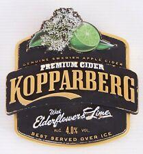 DRAUGHT BEER TAP HEAD KOPPARBERG PREMIUM CIDER ELDERFLOWER LIME BADGE BAR PUB