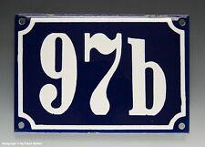 Emaux, E-Mail-numéro de maison 97b en bleu/blanc pour 1960