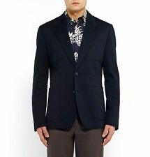 DOLCE & GABBANA Navy Soft Basket Weave Sport Coat Suit Jacket Blazer NEW & TAGS