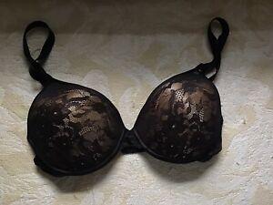 Wonderbra black lace underwire bra 7730 36D NWOT