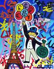 Alec Monopoly Money Art graffiti Acrylic Oil Painting Print on Canvas, poster