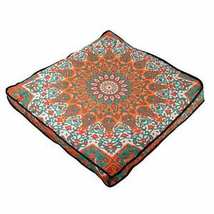 """Mandala Case Ottoman 35"""" Indian Square Cushion Floor Pillow Seating Cover Pouf"""
