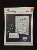 Marriage Prayer Counted Cross Stitch Leaflet by Imaginating