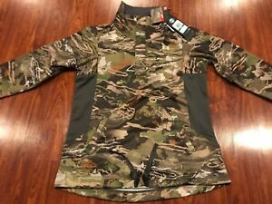 Under Armour Women's Camo Early Season 1/2 Zip Hunting Hoodie Jacket Large L