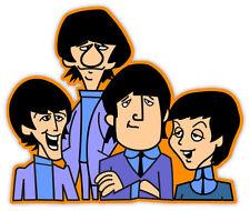 """The Beatles cartoon sticker decal 5"""" x 4"""""""