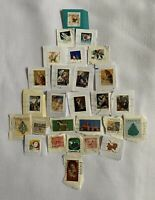 Canada Stamps CHRISTMAS Mixed Lot 27 Different Cancelled Used Assorted Sizes