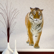 Caminar Tigre Jungla Animales Zoo Lounge pasillo pared adhesivo de vinilo transferencia Mural