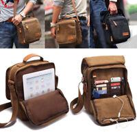 Men's Vintage Canvas Shoulder Bag Handbag Outdoor Travel Hiking Crossbody bags