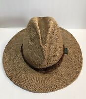 Chi Chi Rodriguez Vitage Straw Golf Hat One Size Wide Brim Made In The USA