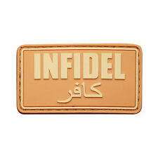PATCH JTG 3D GOMME INFIDEL BEIGE SABLE ARMEE PAINTBALL AIRSOFT MILITAIRE INSIGNE