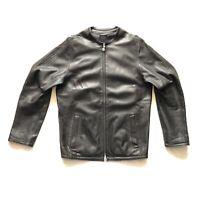 Veste Cuir Adidas Originals Très Rare Firebird Leather Jacket 138815 Noir 2XS