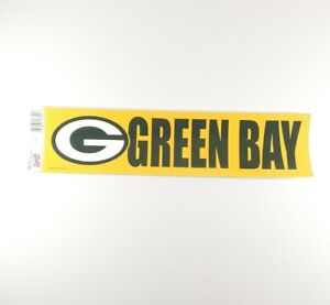 Green Bay Packers Bumper Sticker Green NEW!! 3 x 11 Inches Wincraft
