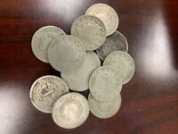 Lot of 12 Liberty Head V Nickels. Various dates and condition.