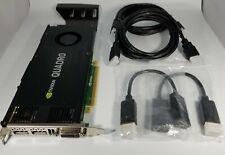 HP NVIDIA Quadro K4200 4GB GDDR5 DVI DisplayPort HDMI PCIe Windows 10 Video Card