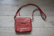 Handtasche, Damen, PATTERSON, korallfarbenes Leder, verstellbarer Trageriemen