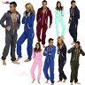 Mens Ladies one piece onsie Jumpsuit unisex pyjamas plain Printed lot Sleepwear