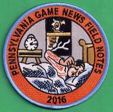 """Pa Pennsylvania Game Commission NEW 4"""" 2016 Pa Game News / Field Notes Patch"""