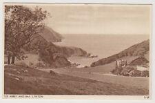 Devon postcard - Lee Abbey and Bay, Lynton