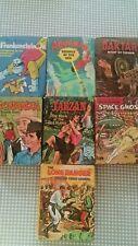 Vintage Big Little Book Whitman 1968 Lot of 7 Tarzan Lone Ranger Bonanza
