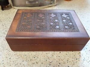 VINTAGE CIGAR BOX / TRINKET BOX, WOODEN BOX, EMPTY