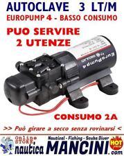 AUTOCLAVE EUROPUMP 4 12V 3 LT/M POMPA OSCULATI PRESSOSTATO DOCCETTA BARCA CAMPER