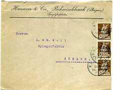 Brief Deutsches Reich Nr: 124 Hanauer & Cie Böhmischbruck nach Zürich 1921 C_067