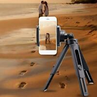 Telescopic Video Tripod Stand with Phone Clip Holder Mount For Mobile Phone