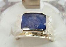 Dark Blue Real kashmir Sapphire Ring Neelam Ring Real Blue Sapphire Silver ring